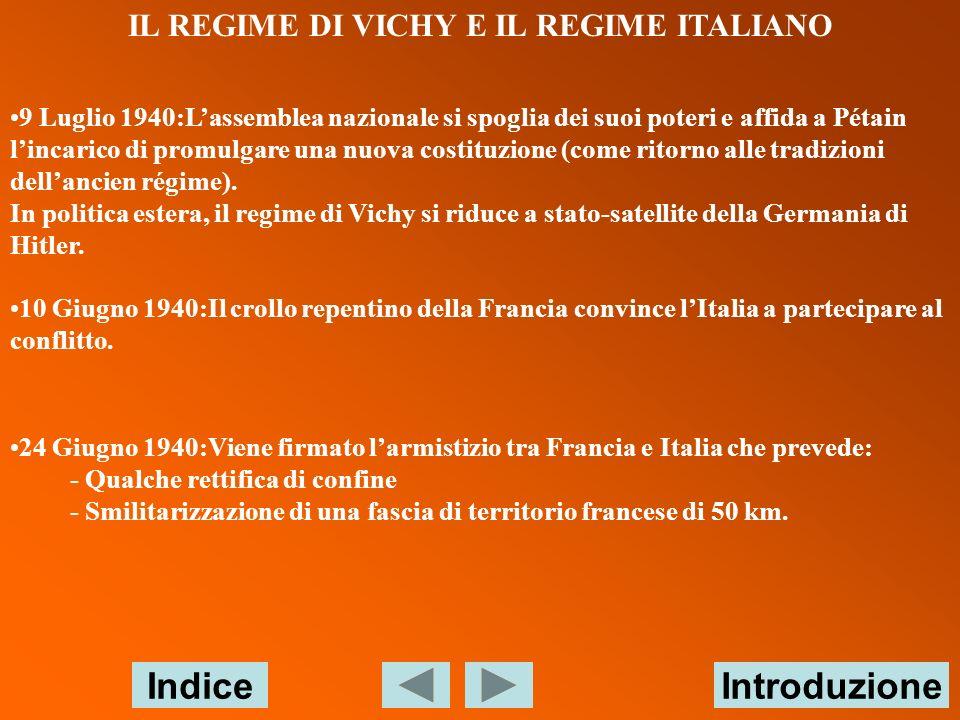 IL REGIME DI VICHY E IL REGIME ITALIANO