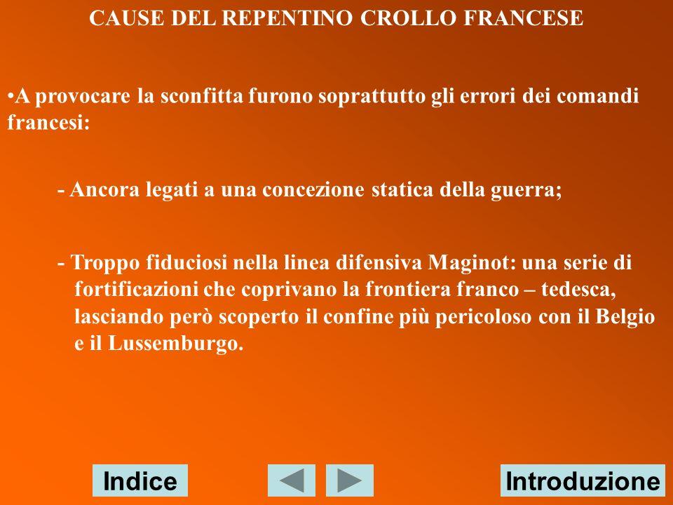 CAUSE DEL REPENTINO CROLLO FRANCESE