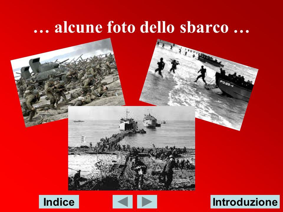 … alcune foto dello sbarco …