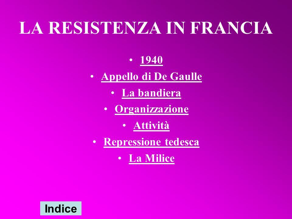 LA RESISTENZA IN FRANCIA