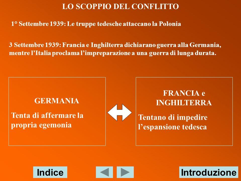 LO SCOPPIO DEL CONFLITTO