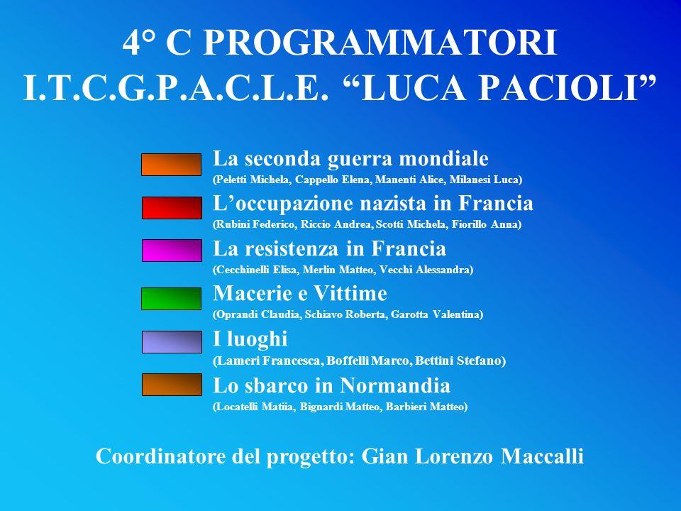 4° C PROGRAMMATORI I.T.C.G.P.A.C.L.E. LUCA PACIOLI