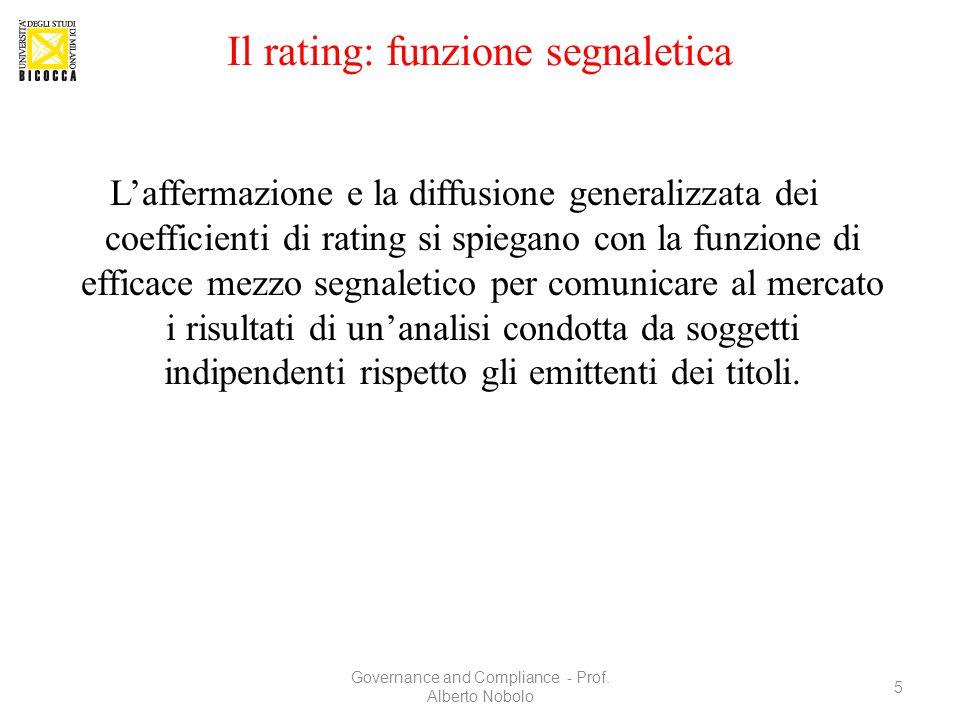 Il rating: funzione segnaletica