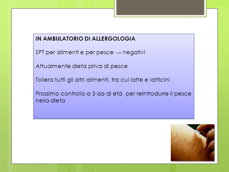 IN AMBULATORIO DI ALLERGOLOGIA