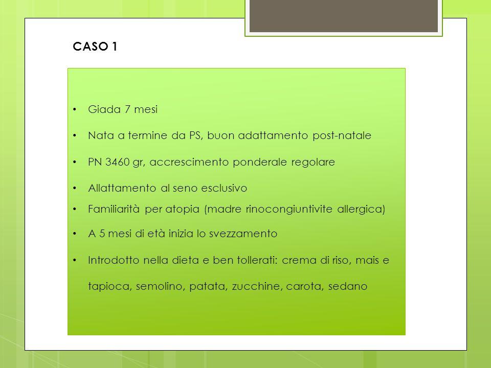 CASO 1 Giada 7 mesi Nata a termine da PS, buon adattamento post-natale