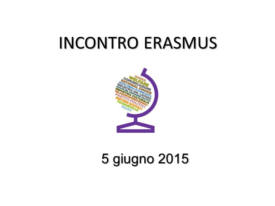 INCONTRO ERASMUS 5 giugno 2015