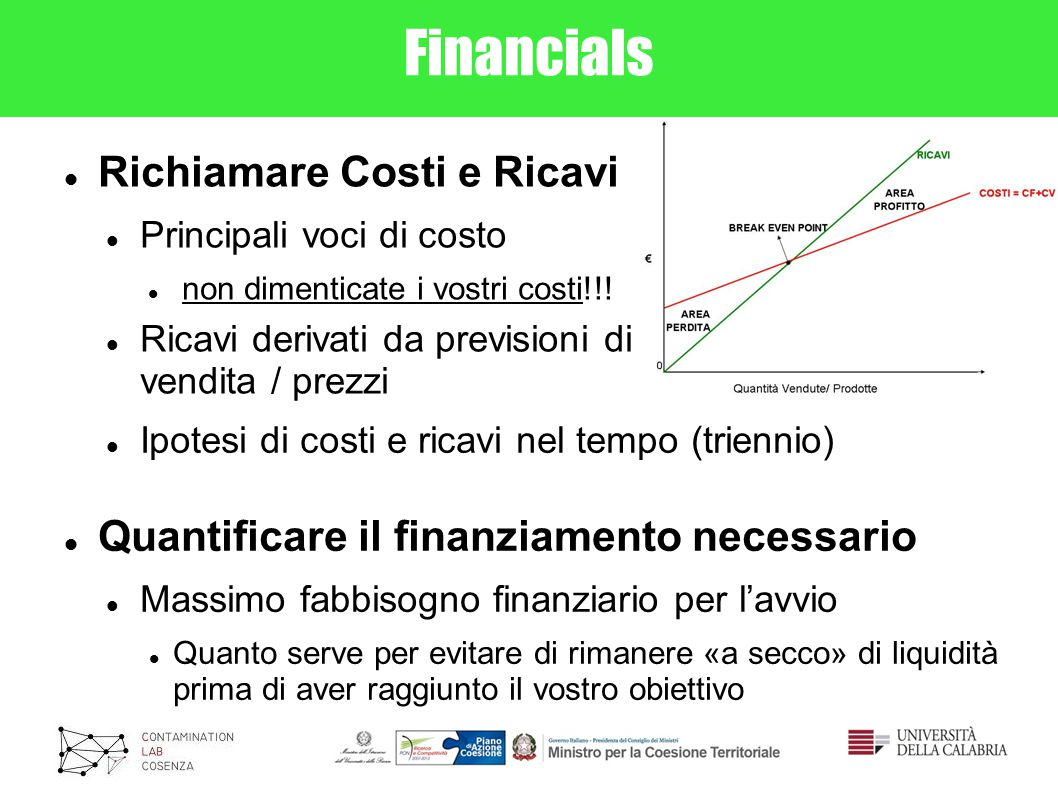 Financials Richiamare Costi e Ricavi