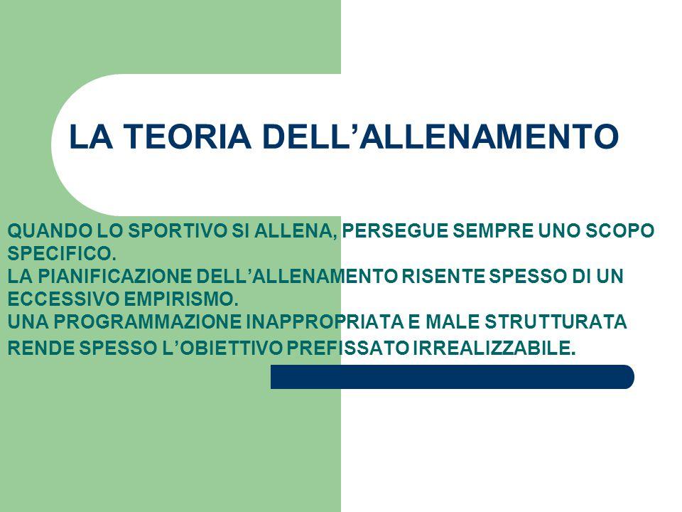 LA TEORIA DELL'ALLENAMENTO