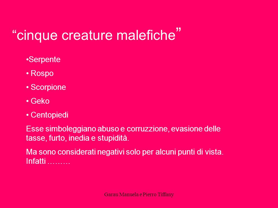 cinque creature malefiche