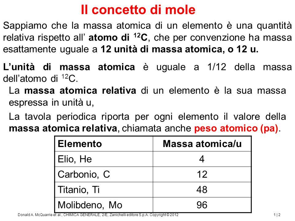 Il concetto di mole