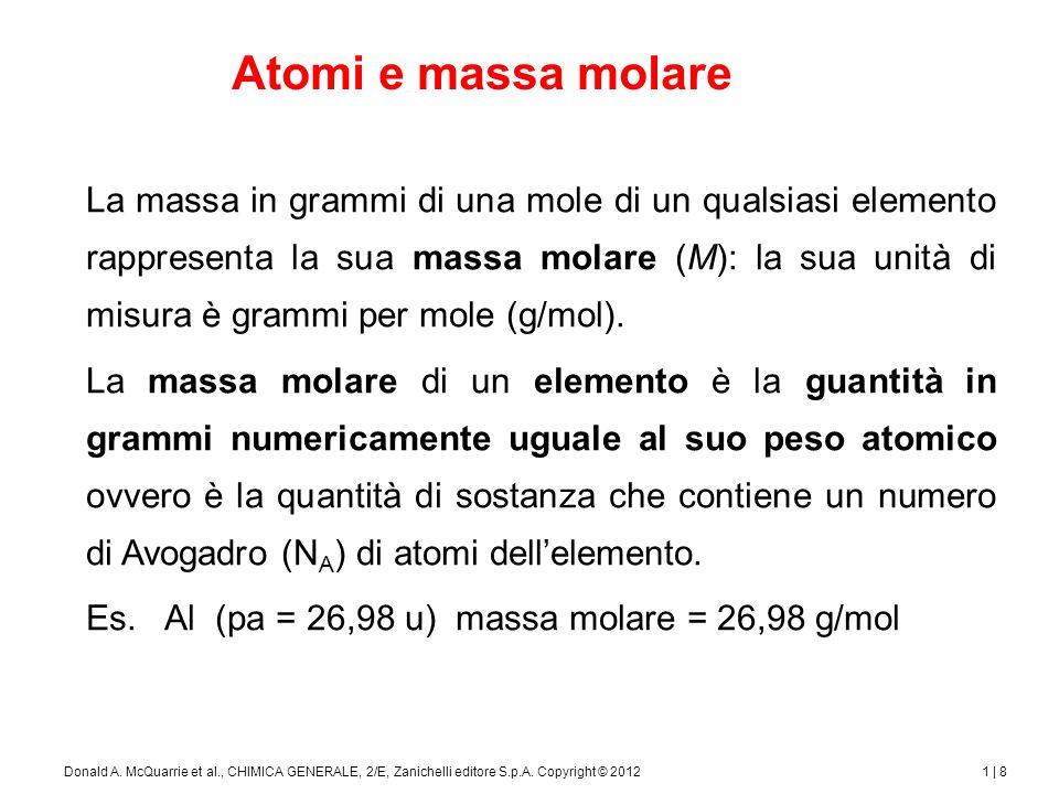 Molecole e massa molare