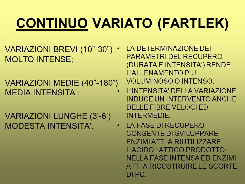 CONTINUO VARIATO (FARTLEK)