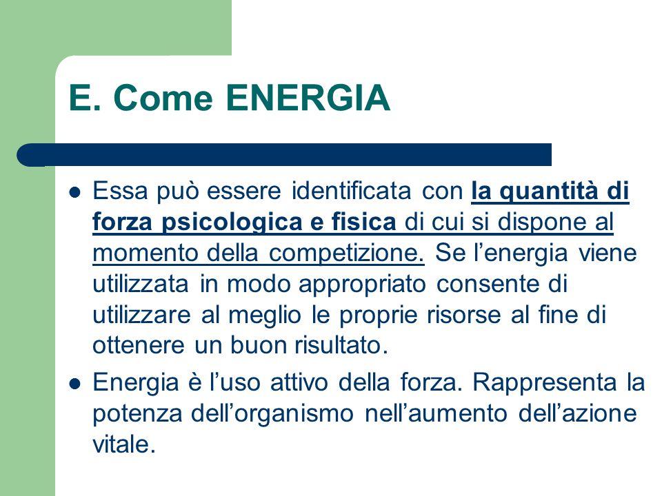 E. Come ENERGIA