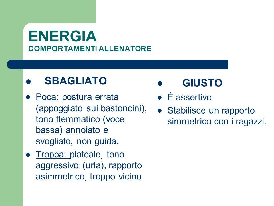 ENERGIA COMPORTAMENTI ALLENATORE