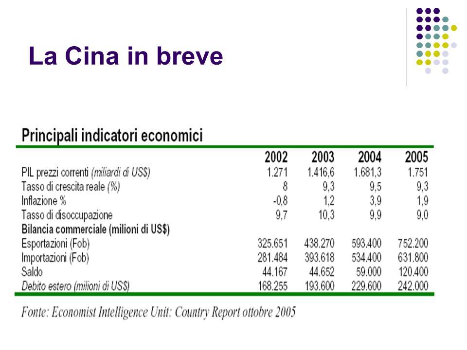 La Cina in breve