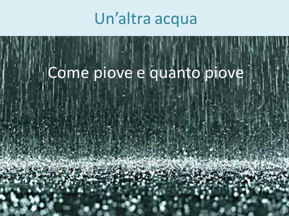 Come piove e quanto piove