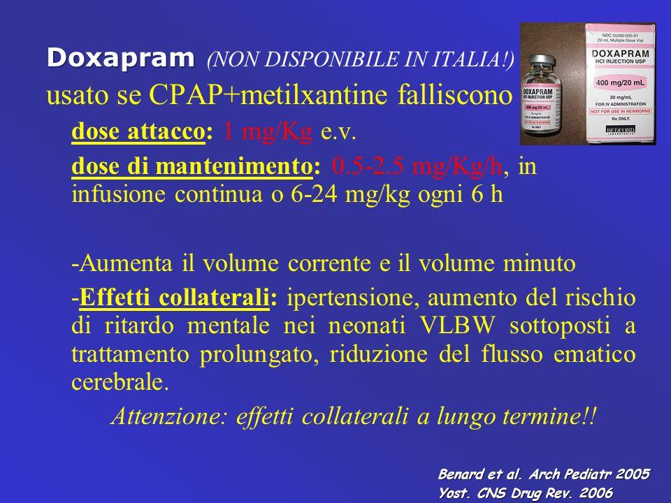 usato se CPAP+metilxantine falliscono