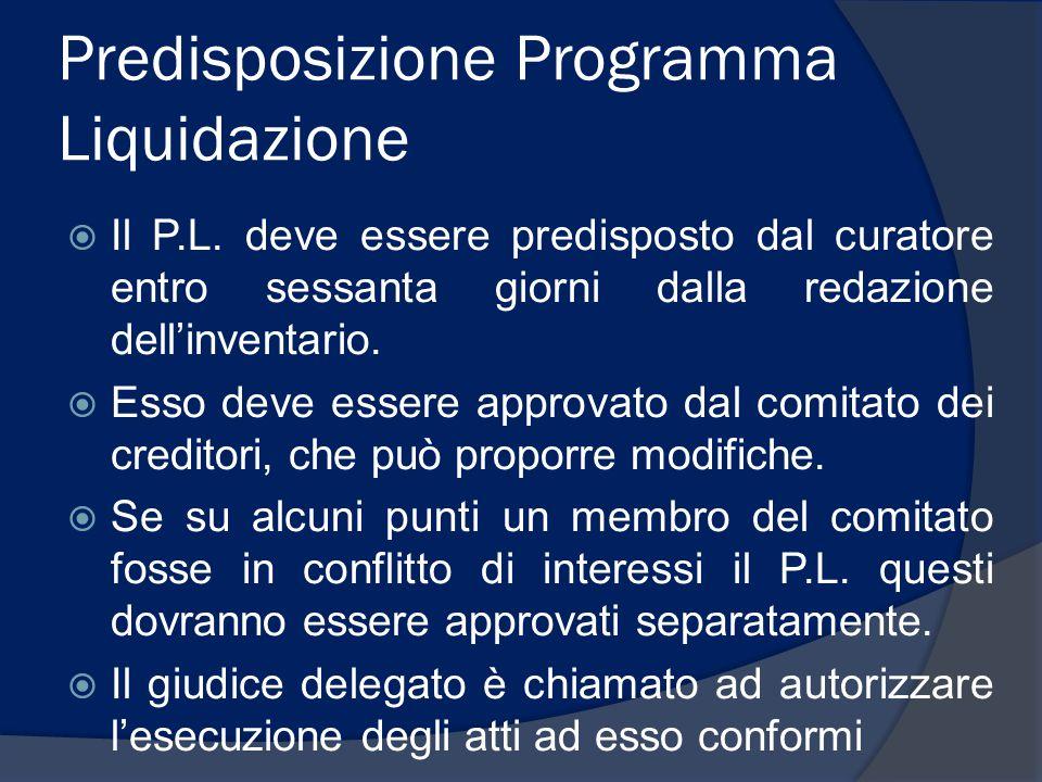 Predisposizione Programma Liquidazione