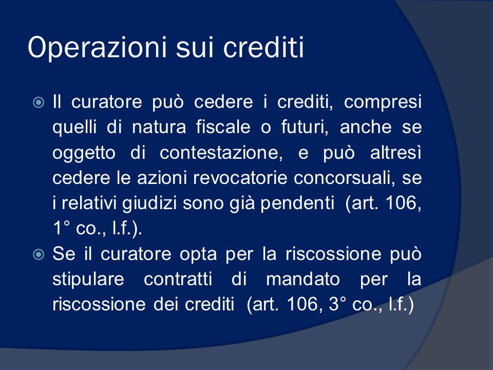 Operazioni sui crediti