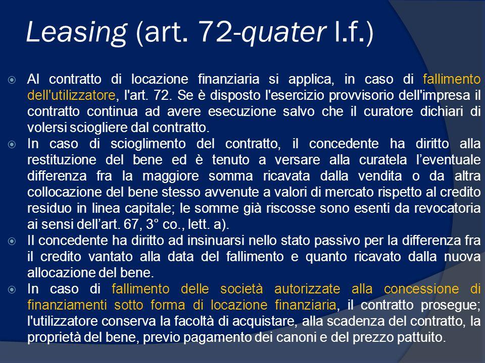 Leasing (art. 72-quater l.f.)