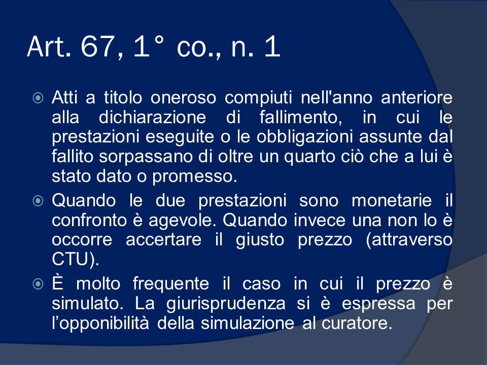 Art. 67, 1° co., n. 1
