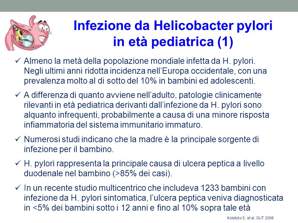 Infezione da Helicobacter pylori in età pediatrica (1)