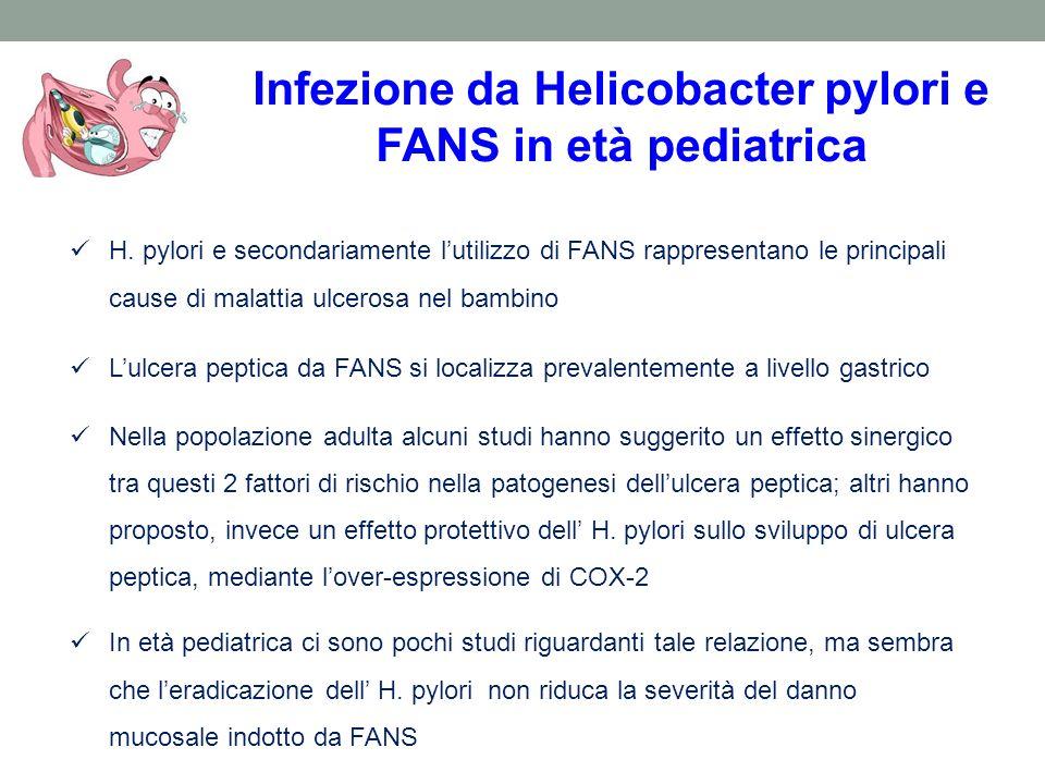 Infezione da Helicobacter pylori e FANS in età pediatrica