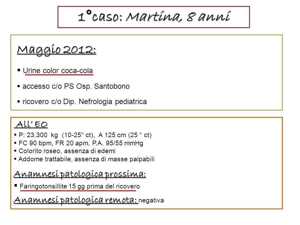 1°caso: Martina, 8 anni Maggio 2012: All' EO