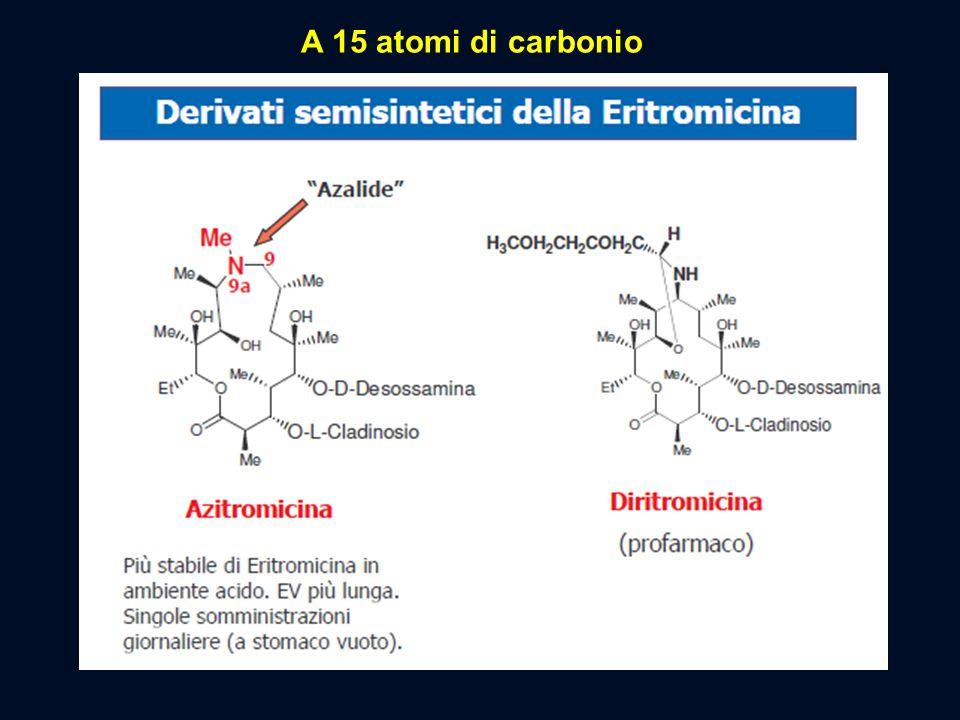 A 15 atomi di carbonio