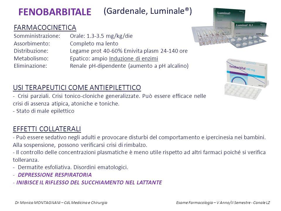 FENOBARBITALE (Gardenale, Luminale®) FARMACOCINETICA
