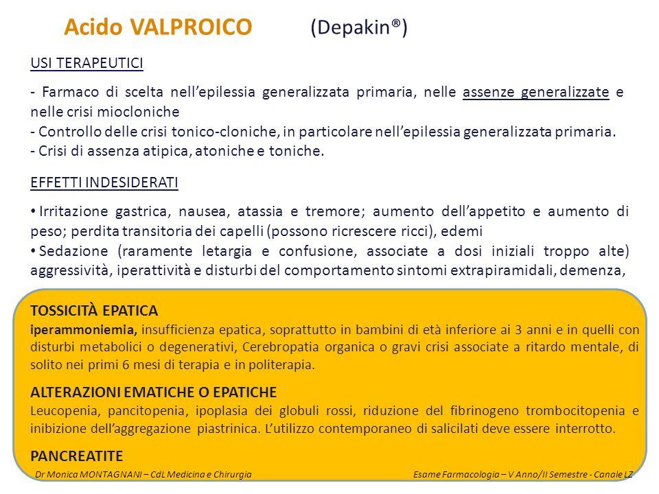 Acido VALPROICO (Depakin®) USI TERAPEUTICI