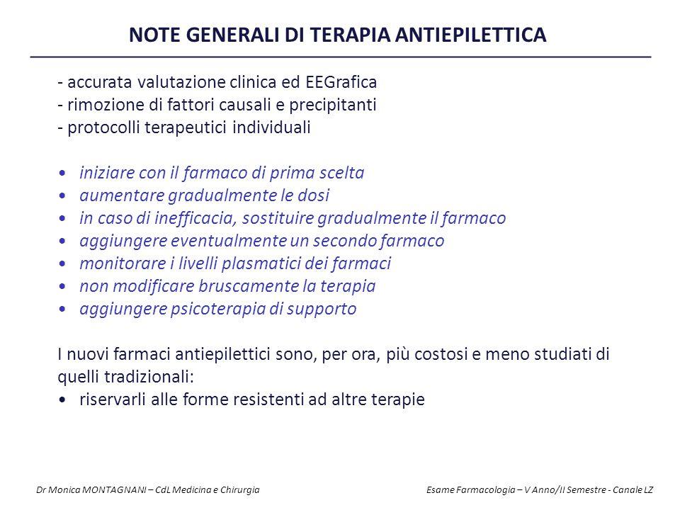 NOTE GENERALI DI TERAPIA ANTIEPILETTICA
