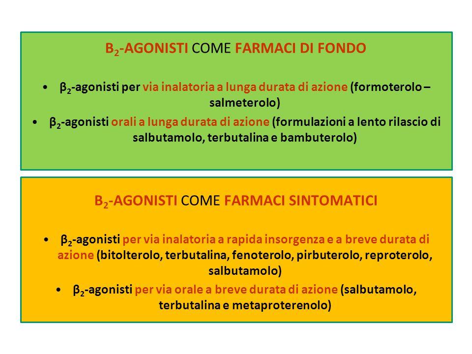 β2-agonisti come farmaci di fondo