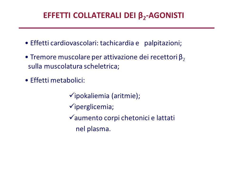 EFFETTI COLLATERALI DEI β2-AGONISTI