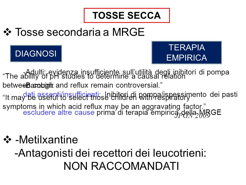 Tosse secondaria a MRGE