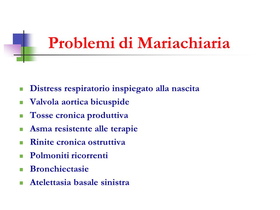 Problemi di Mariachiaria