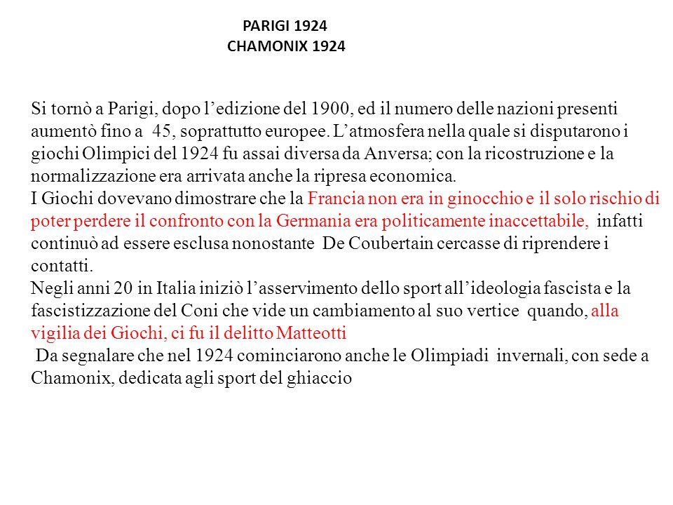 PARIGI 1924 CHAMONIX 1924.