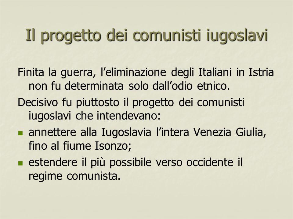 Il progetto dei comunisti iugoslavi