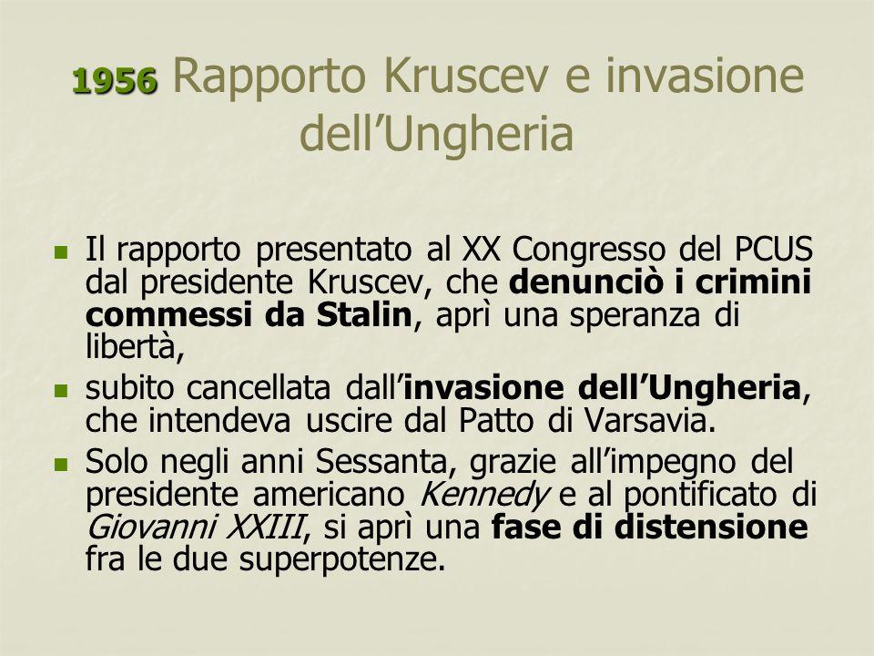 1956 Rapporto Kruscev e invasione dell'Ungheria