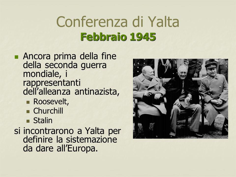 Conferenza di Yalta Febbraio 1945