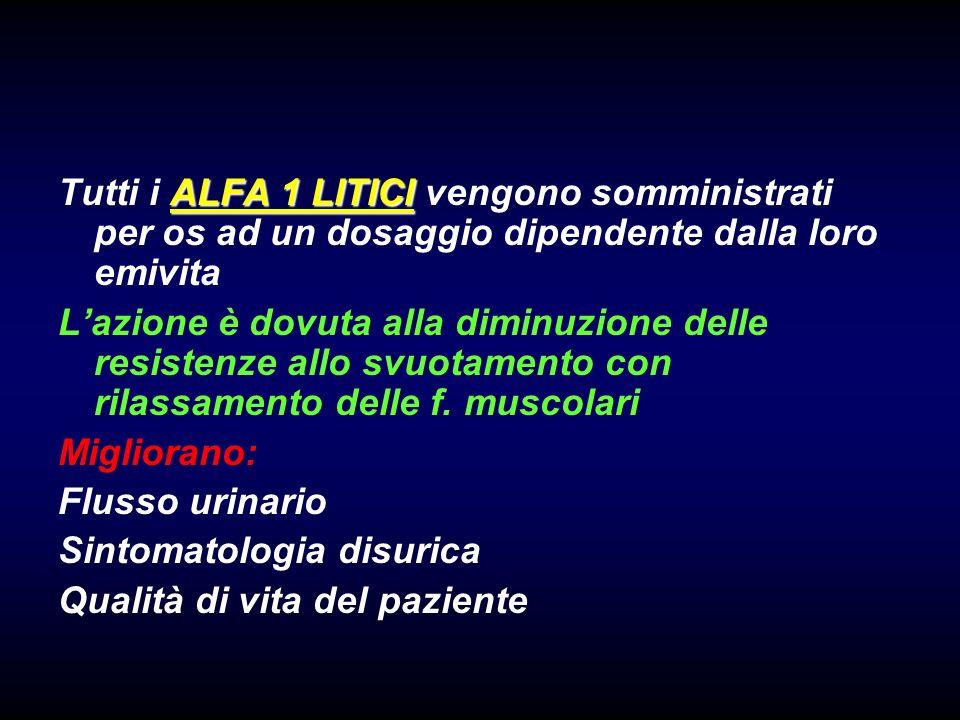 Tutti i ALFA 1 LITICI vengono somministrati per os ad un dosaggio dipendente dalla loro emivita