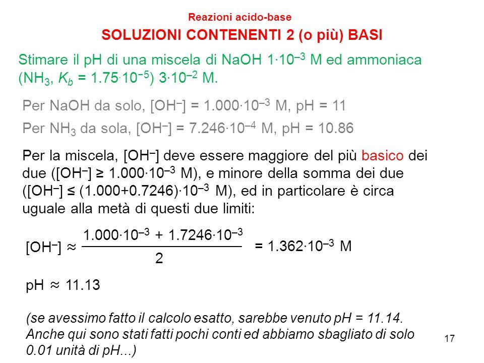SOLUZIONI CONTENENTI 2 (o più) BASI