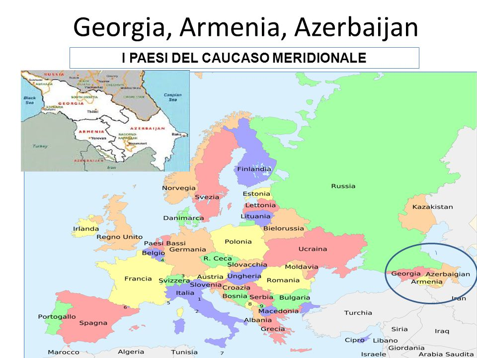 Georgia, Armenia, Azerbaijan
