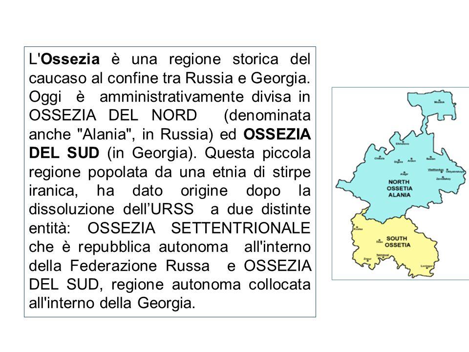 L Ossezia è una regione storica del caucaso al confine tra Russia e Georgia.