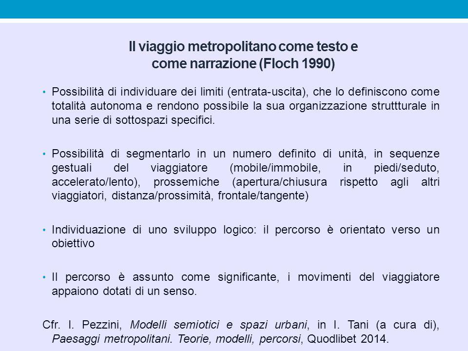 Il viaggio metropolitano come testo e come narrazione (Floch 1990)