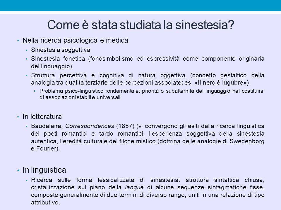 Come è stata studiata la sinestesia