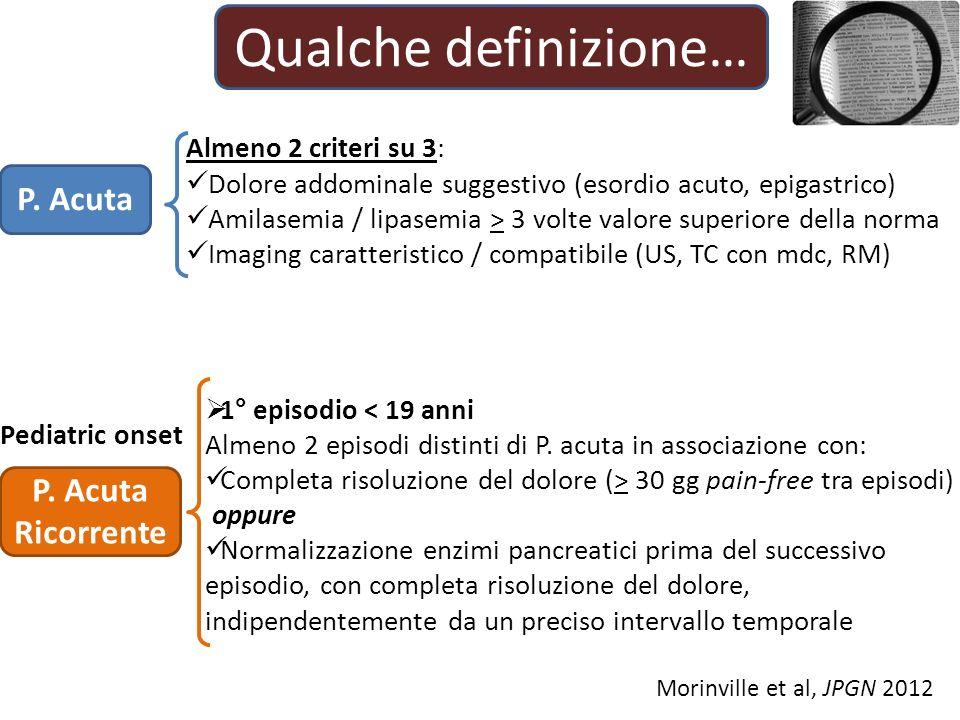 Qualche definizione… P. Acuta P. Acuta Ricorrente