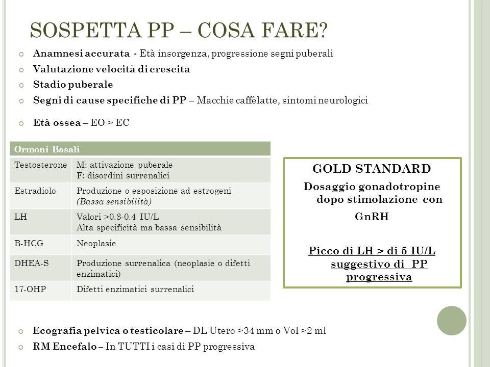 SOSPETTA PP – COSA FARE GOLD STANDARD