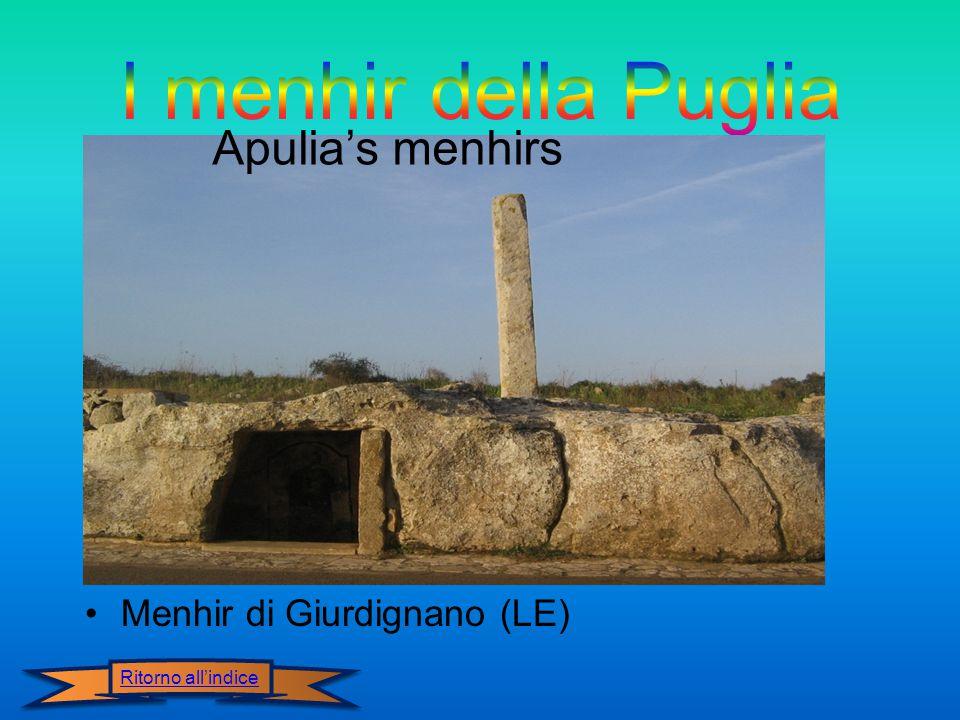 I menhir della Puglia Apulia's menhirs Menhir di Giurdignano (LE)