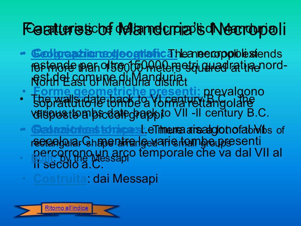 Caratteristiche della necropoli di Manduria